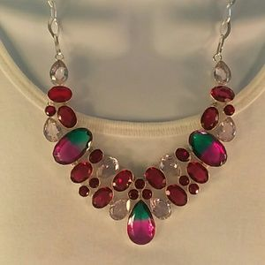 Tourmaline, rubellite,  rose quartz necklace